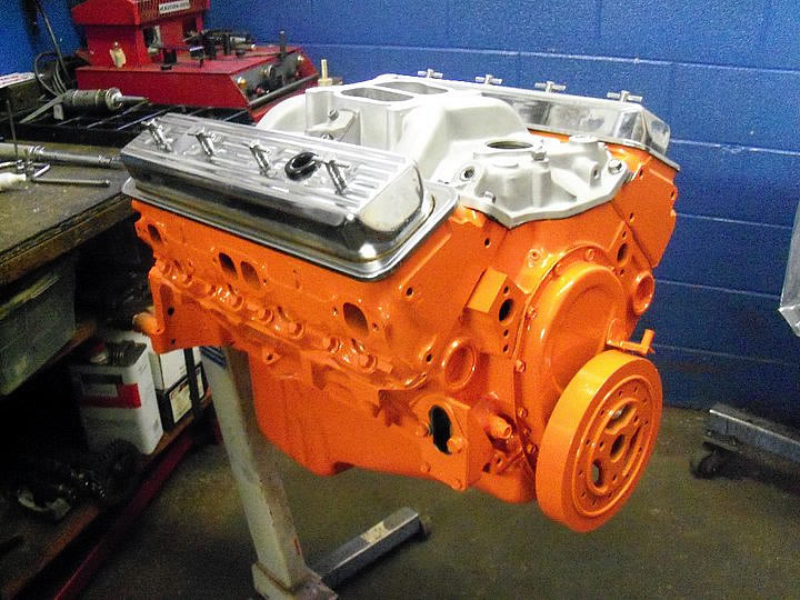 Orange Powdercoat Engine